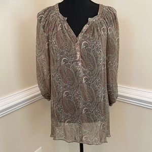 Pea In The Pod See Through Blouse Size Large